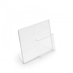 Acrílico de Mesa L Horizontal + porta-folhetos