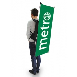 Mochila com Bandeira X-Banner
